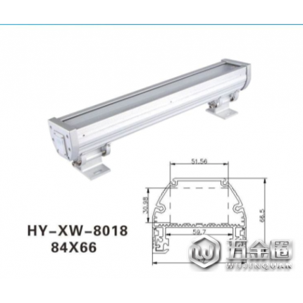 【量大质优】莹瑜LED洗墙灯外壳 质量保证LED洗墙灯外壳 72W灯具外壳 室外灯具外壳