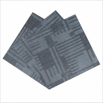 仿地毯PVC地板 防水环保方块石塑地砖佛山批发办公室工程地胶