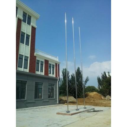 可自由调节的五米泰安肥城亿佳学校注水旗杆