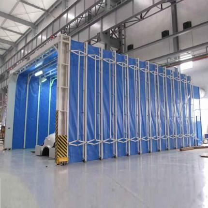 整体移动喷漆房 轨道移动伸缩房 运行稳定   风量计算